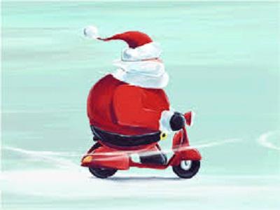 scooter père noel